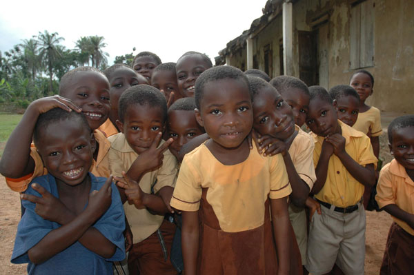 Ghana--group-of-children